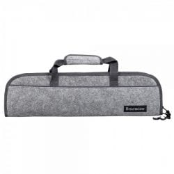 Messermeister 5 Pocket Knife Roll Heather Gray Felt