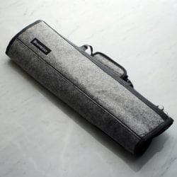 Messermeister 8 Pocket Knife Roll Heather Gray Felt