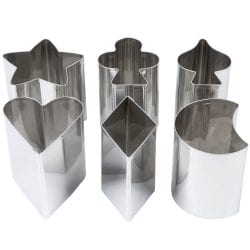 Ateco 6 pc Cake and Sandwich Cutter