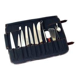 Boldric 17 Pocket Canvas Knife Bag Black