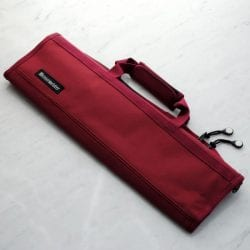 Messermeister Padded Knife Roll Cordura: 8-pocket Burgundy