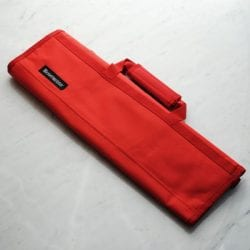 Messermeister Padded Knife Roll Cordura: 8-pocket Red