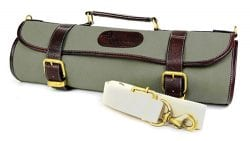 Boldric 9 Pocket Canvas Knife Roll Green
