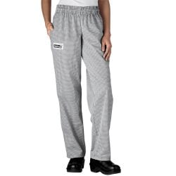 Chefwear Women's Low Rise Chef Pants: European Houndstooth