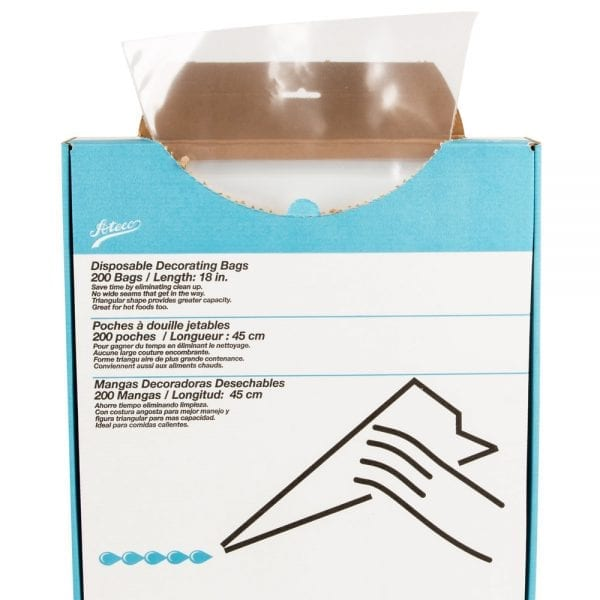 Ateco 18-in. Clear Disposable Pastry Bag - 200 / Box