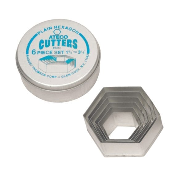Ateco 6 pc. Plain Hexigon Cutter Set