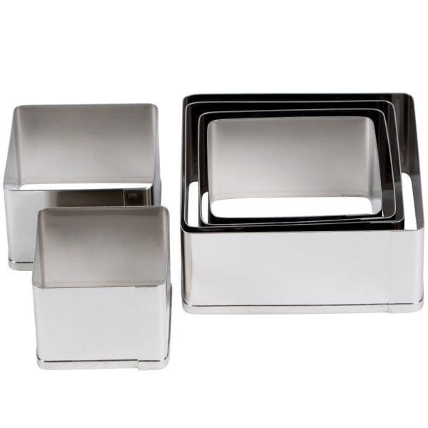 Ateco 6 pc. Plain Square Cutter Set