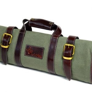 Boldric 17 Pocket Canvas Knife Bag Green