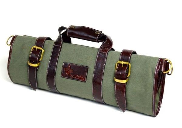 Boldric 17 Pocket Canvas Knife Bag Green