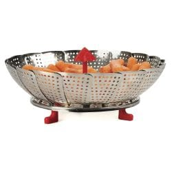 RSVP Endurance Vegetable Steamer: 12-in.