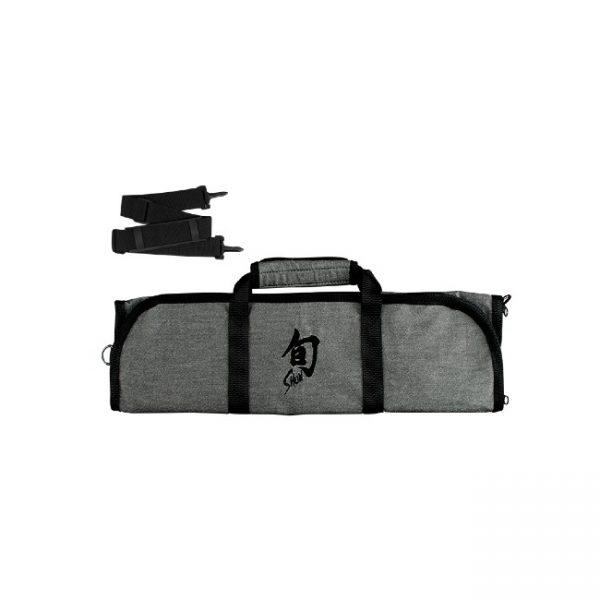 Shun 8-Slot Knife Roll: Grey